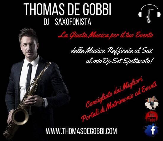 Thomas De Gobbi Dj Sax matrimonio
