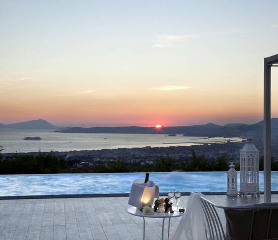 Villa Andrea di Isernia, la piscina panoramica