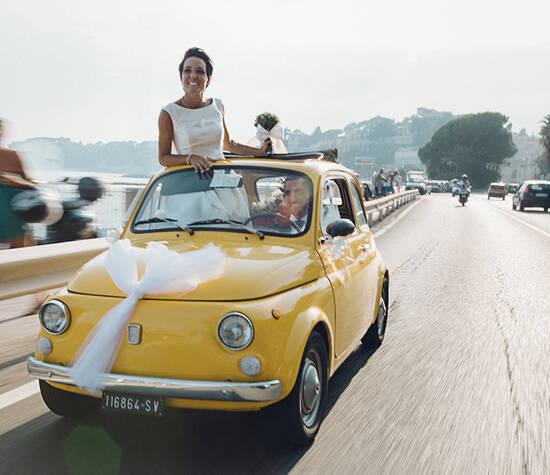 reportage matrimonio Fiat 500
