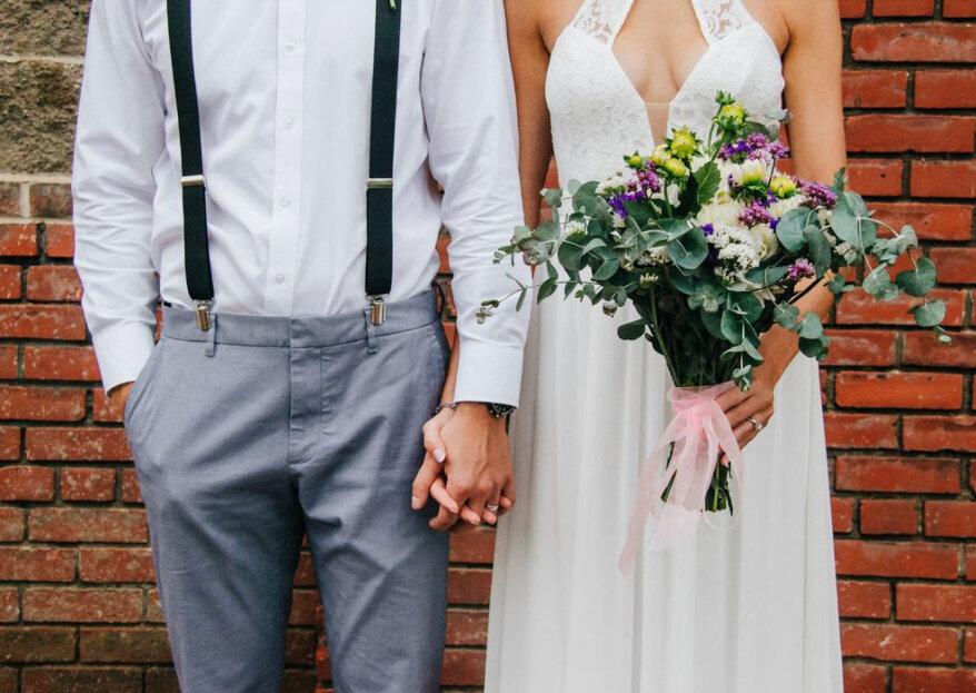 Come abbinare il bouquet al tuo abito da sposa