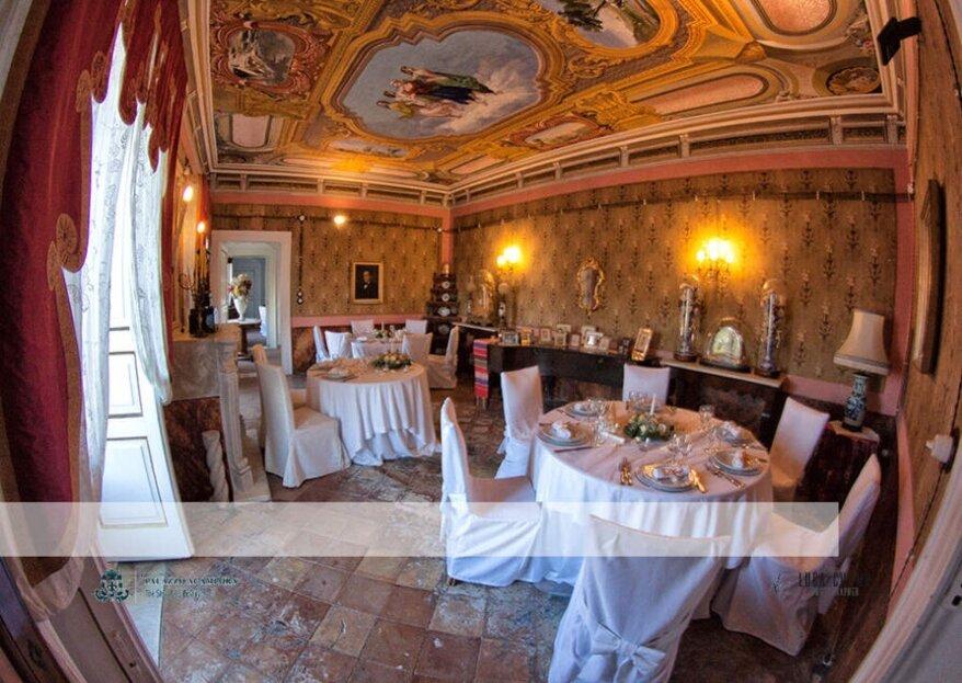 Palazzo Acampora, scenografia senza tempo e versatile per un matrimonio da favola!