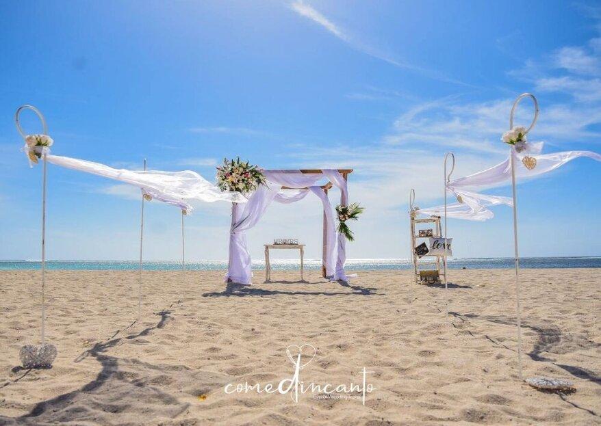 Come d'incanto wedding Travel ti affiancherà dall'inizio alla fine del viaggio speciale che è il vostro matrimonio