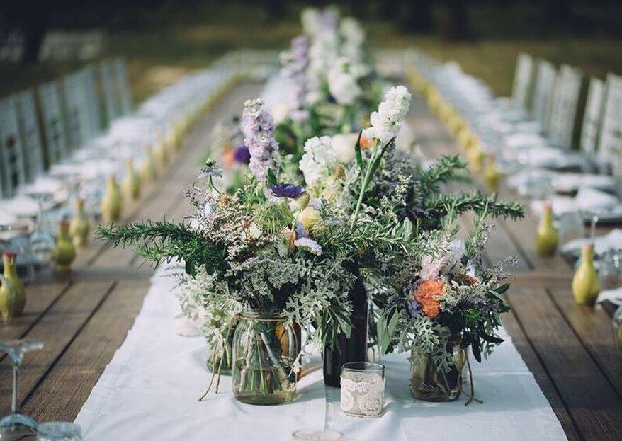 Annalori Blasi floral designer vi conquisterà con composizioni floreali creative e armoniche per le vostre nozze!