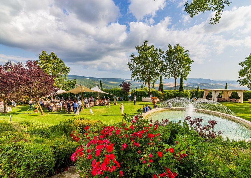 Tenuta Quadrifoglio benedirà le vostre nozze tra cipressi ed ulivi, in una cornice da sogno!