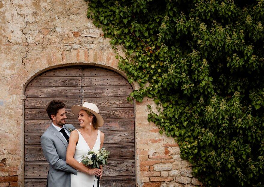 Aisling e Olan, l'amore nato sulle coste irlandesi e celebrato in un antico borgo medievale italiano, al Castello di Montignano!