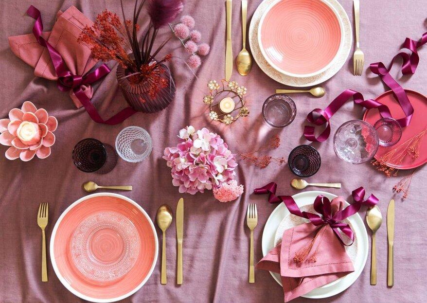 Come decorare la tavola per la cena di San Valentino