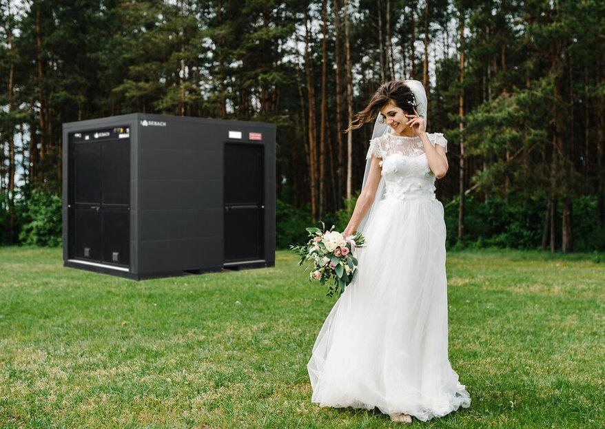 Sebach Elite: il bagno mobile di lusso e charme che merita il tuo matrimonio!