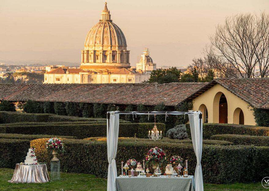 Le 4 stagioni della location per il tuo matrimonio a Roma!