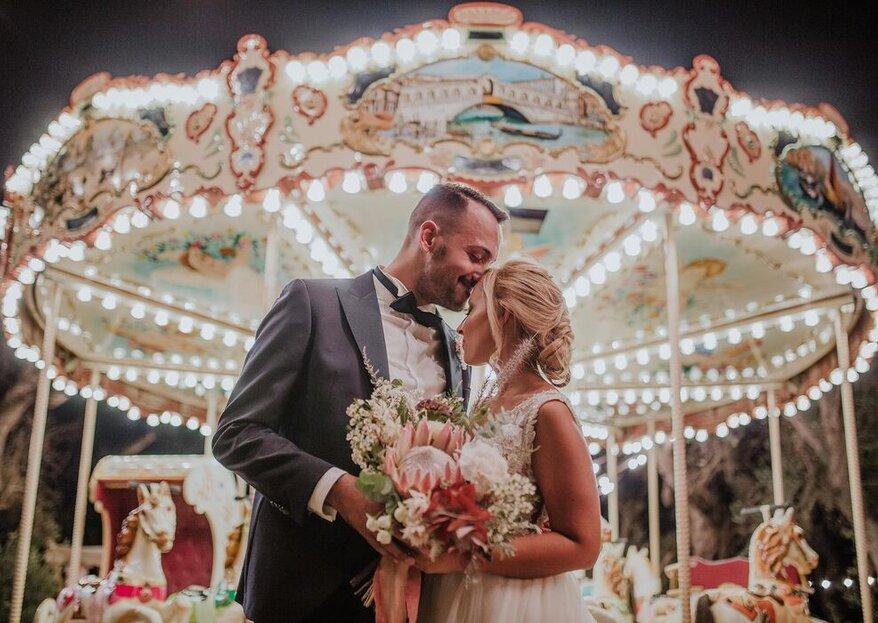 """Un matrimonio """"all in"""": cerimonia, banchetto e tanto divertimento!"""