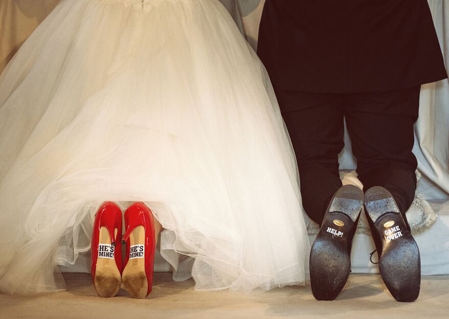 Come personalizzare la suola della scarpe da sposa: ecco l'idea che non ti aspetti!