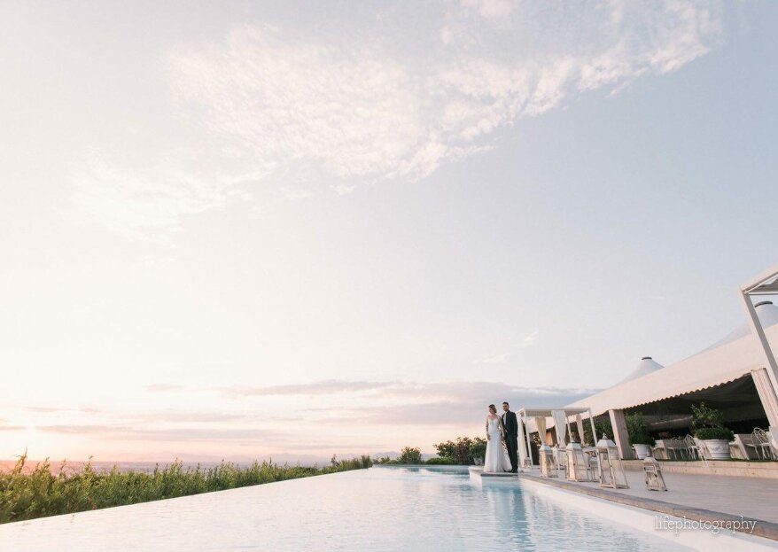 Quando lo sguardo si perde nell'immensità del mare: le tue nozze a Villa Andrea di Isernia
