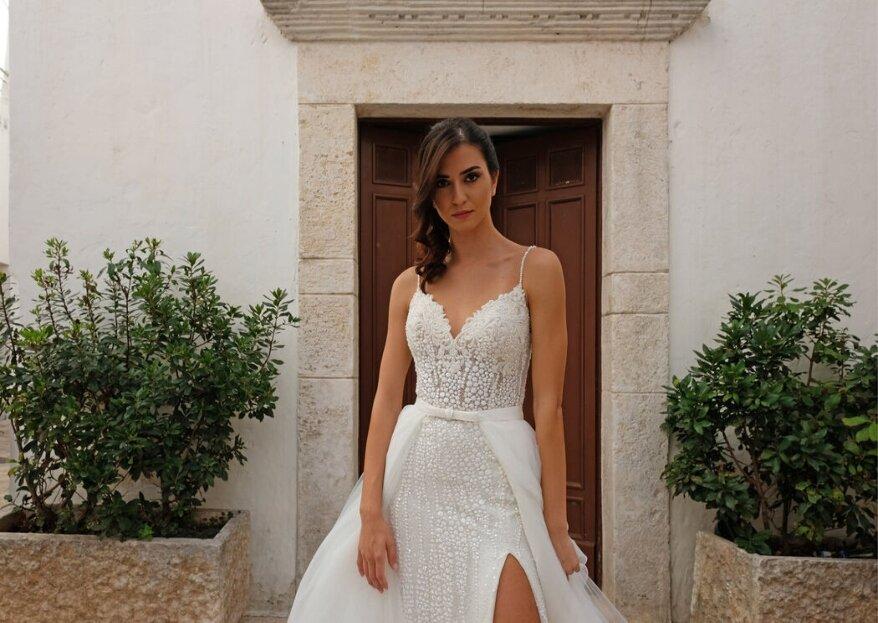 Le Spose Di Maria Calella vestirà con eleganza e creatività il vostro giorno tanto atteso...