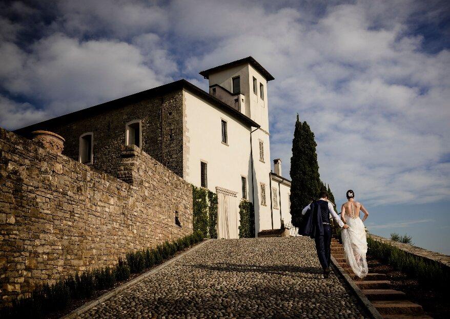 Castello degli Angeli, una tenuta incantevole con una vista mozzafiato sulle colline bergamasche per le vostre nozze da favola