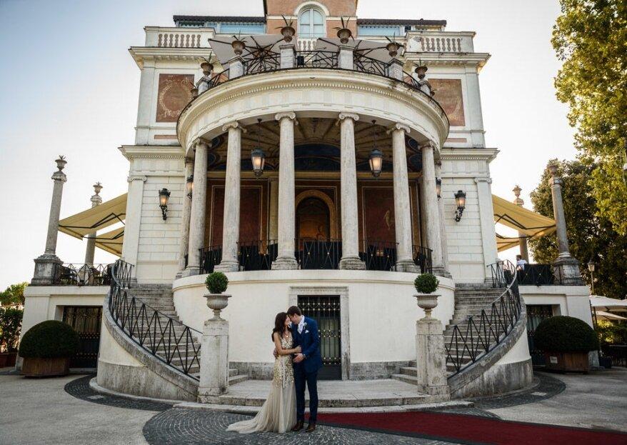 Il vostro matrimonio dei sogni tra storia ed eleganza a Casina Valadier...