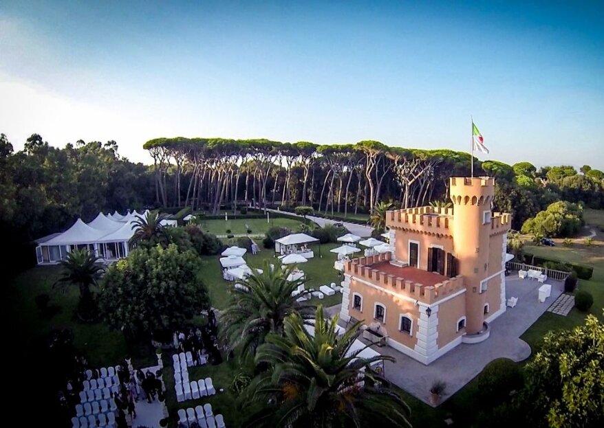 Il Castello Borghese, location dal fascino antico e dal piglio contemporaneo per nozze indimenticabili...