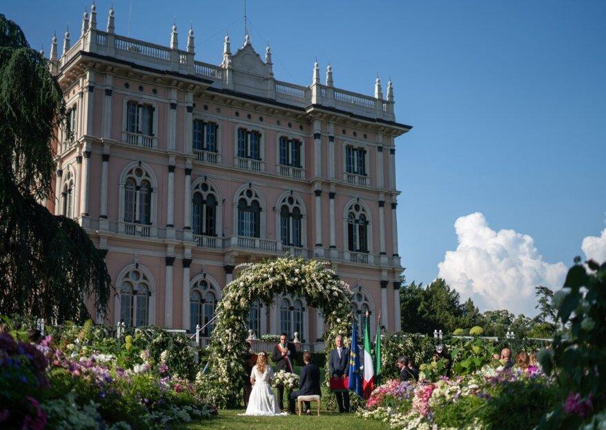 Villa Andrea Ponti, un perfetto connubio di meraviglie architettonico-artistiche e ambientali per le vostre nozze da sogno