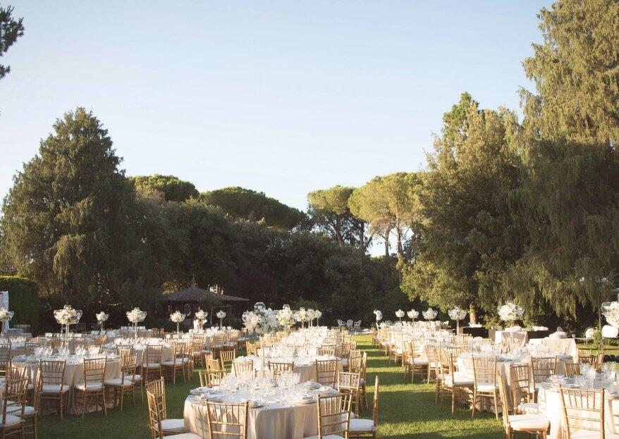 L'eleganza di una location in una delle zone più romantiche di Roma: Villa degli Orazi